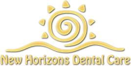 Logo for New Horizons Dental Care in Salina, KS.