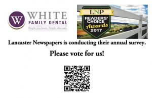 Vote for White Family Dental in Lancaster Newspapers Readers Choice Awards Survey 2017